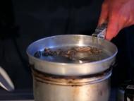 Tilberedning af rejer i olie