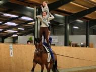 Voltigering - Esbjerg og Omegns Rideklub - Clara Rasmussen og Sanne Lorenzen
